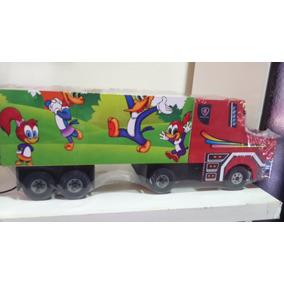 Caminhão Scania Truck De Madeira