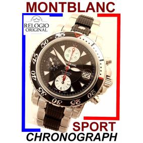 Espetacular Montblanc Xl Diver Sport Crono 7034 Auto !