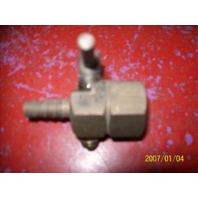 Antigua Llavin De Agua O Gas De 1/2 De Bronce Con Pico