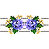 Matriz Bordado Ponto Cruz Rosas Barrado Floral Tulipas Cd92