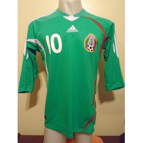 Camiseta Fútbol Selección México 2008 2009 C. Blanco  10 T.m 86c64a4d9fcef