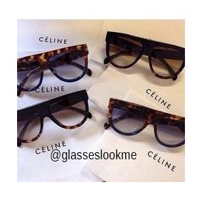 Óculos Oversized Céline Shadow Com Kit Case Da Marca dc367f753c