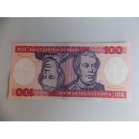 Cedula 100 Cruzeiros,estampa Duque De Caxias,estado De Fe.