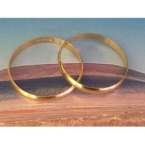 Par De Alianças Em Ouro 18k-750