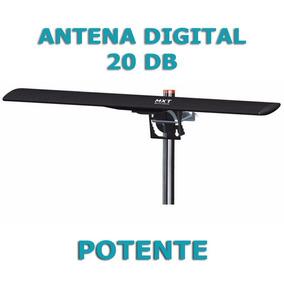 Antena Tv Digital Amplificada Uhf Vhf Hdtv 20db Externa