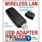 Cq Wifi Tarjeta Red Inalámbrica Usb 54m/ 802.11g/b Pc Laptop