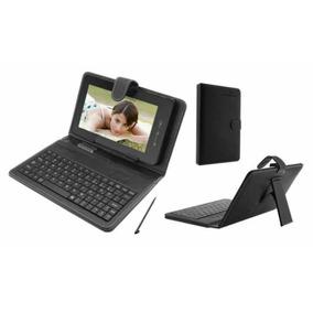 Teclado Com Capa Protetora Para Mini Tablet De 7 Polegadas.