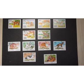 Temática - Felinos - 10 Selos Com Carimbo - L - 622