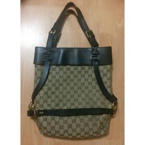 Preciosa Bolsa Gucci Bucket Halted Bag Piel Fina Grande! 4177064e1f