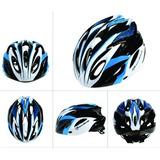 Capacete Ciclismo Rockbross - Pronta Entrega - Preto E Azul