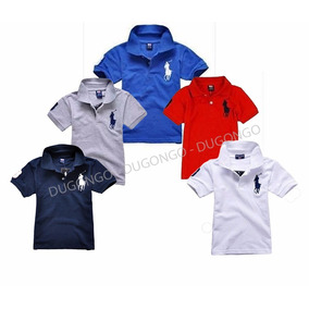 Atacado 5x Camiseta Polo Infantil Pronta Entrega Menino e117d065bc9