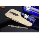 Capa Capinha Celular Moto G4 Plus Espelhada Alumínio Bumper