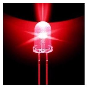 Led 5mm Vermelho Alto Brilho, Lote Com 500 Pçs