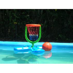 Basket Flotante Pileta Juegosgeniales Aro Pelota Basquet