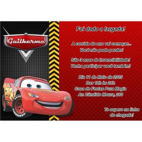Convite Para Aniversario Dos Carros De Eva Artesanato No Mercado