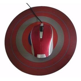 Capitão América Mouse Pad Escudo Personalizado Tamanho G