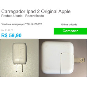 Carregador Ipad 2 Original Apple