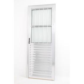 Porta De Aluminio Linha 25 Anod. Bril. 2.10 X 0.70 Social