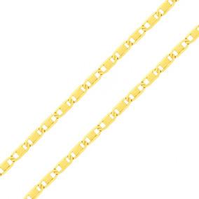 Corrente Cordão Colar De Ouro 18k Feminino Piastrine 45cm 469638ce9c