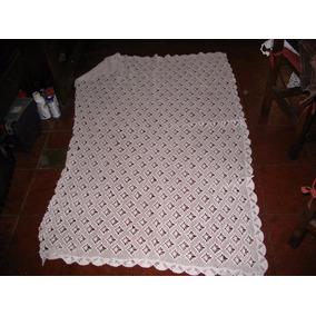 Antiguo Mantel O Manta Crochet Terminaciones 3 L 1,10x1,86cm