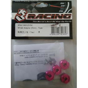 3racing Adaptador De Roda De 7mm- Sextavado