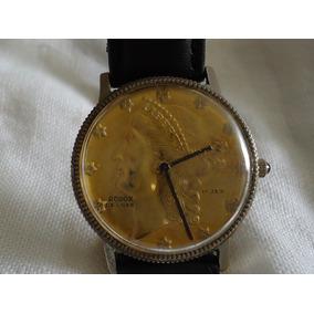 Reloj Rodox De Cuerda Vintage Único Caratula De Moneda