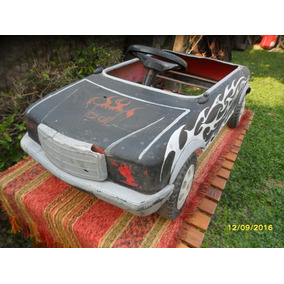 Antiguo Auto Autito Karting A Pedal Niño En Chapa Intervenid