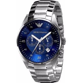 02923a1f4a0 Relogio Armani Prata E Azul - Relógios De Pulso no Mercado Livre Brasil