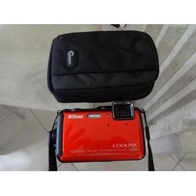 Camera Nikon Aw120 A Prova De Agua Com Cartao De Memoria 16