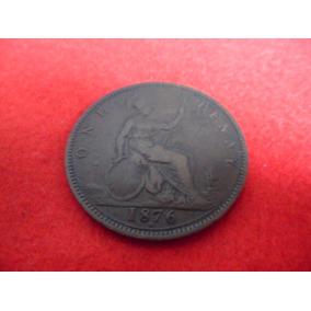 Bela Moeda One Penny 1876 - Bronze Mbc