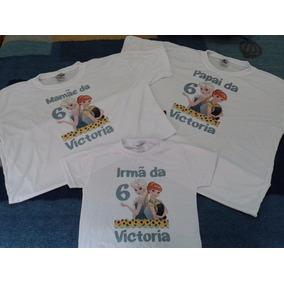Kit 3 Camisetas - Personalizadas Frozen ee7b3535a7b