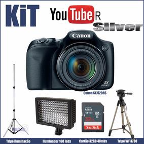 Kit Youtuber Silver Canon Sx530+led+tripes+32gb
