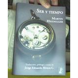 Ser Y Tiempo (trad. Y Notas Jorge Rivera) - Heidegger Martin