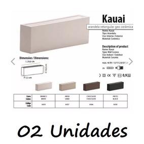 02 Un Arandela Ceramica Kauai A437 Areia Geo Cerâmica 41e9bb0d290e9
