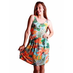 Vestido Feminino Tropical Roupa Verão Praia