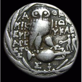*wm* Tetradracma Grego De Attica Athenas Novo Estilo 197 Ac