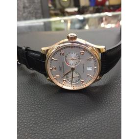 Relogio Masculino Ouro Rose De Couro,automatico E Reserva - Relógios ... 64aa71adec