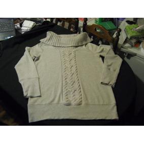 Pullover Largo De Mujer Cuello Alto Loft Talla M Impecable 63452384dc20