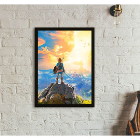 Quadro Gamer Zelda Breath Of The Wild (30x40)