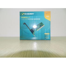Placa Fax Modem 56k Kaiomy Pci V92 Lp450 Pn:pinball-b