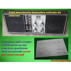 Esquema Radio Evadin Rc603 Rc-603 Em Pdf Via Email