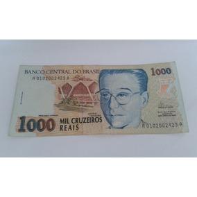 Nota Antiga De Mil Cruzeiros Reais