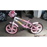 Bicicleta Infantil Rosa Com E Rodas Para Aprender Pneus Zero