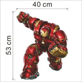 Adesivo 3d De Parede! Homem De Ferro Iron Man! Decoração!
