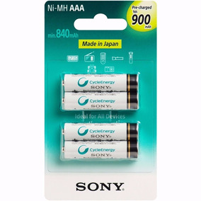 Kit 2 Pack Pilhas Palito Recarregavel Sony Ni-mh 900mah 8un