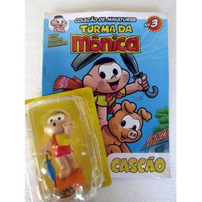 Miniatura Cascão 10 Cm Com Fascículo Nº 3 Turma Da Mônica