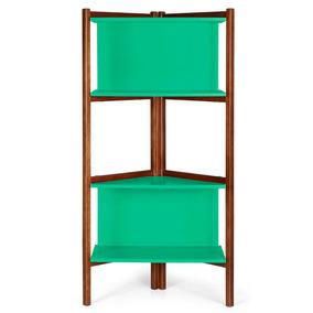 Estante Para Livros Easy Maxima Cacau verde Anis Ej por Madeira Madeira 1860e80e33