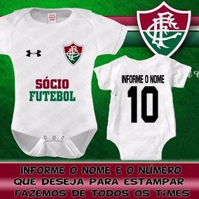 ade89afb1d Body Fluminense - Bodies Manga Curta de Bebê no Mercado Livre Brasil
