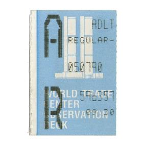 Ticket Ingresso P/ O Observatório Do World Trade 07/05/1990