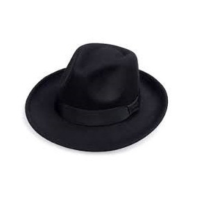 Chapéu Masculino Preto Tipo Fedora Acessório De Roupas eea2a02571f